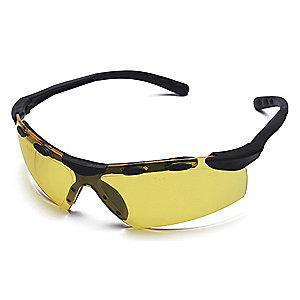 Condor Enticer Scratch-Resistant Safety Glasses, Amber Lens Color