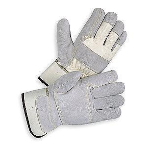 Condor Cowhide Leather Palm Gloves with Safety Cuff, Gray, XL