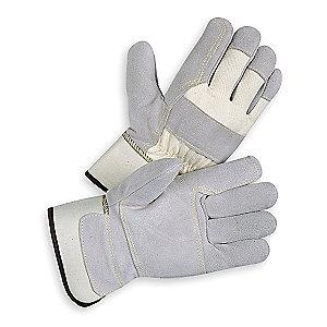 Condor Cowhide Leather Palm Gloves with Safety Cuff, Gray, S