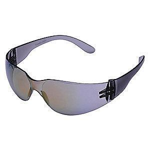Condor V Scratch-Resistant Safety Glasses, Red Mirror Lens Color