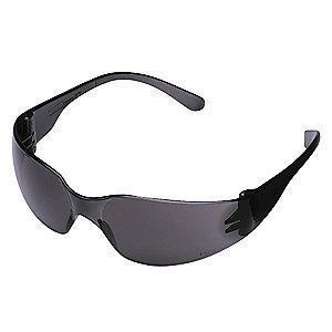 Condor Mini V Scratch-Resistant Safety Glasses, Gray Lens Color
