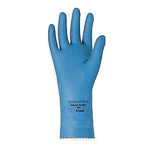 Ansell Chemical Resistant Gloves, Unlined Lining, Blue, PR 1