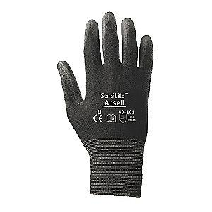 Ansell 13 Gauge Smooth Polyurethane Coated Gloves, Glove Size: L, Black