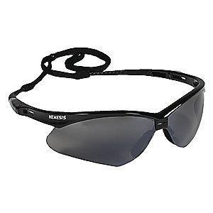 Jackson Safety V30 Nemesis Scratch-Resistant Safety Glasses, Smoke Mirror