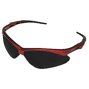 Jackson Safety V30 Nemesis Scratch-Resistant Safety Glasses, Smoke