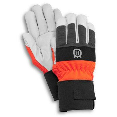 Husqvarna Work Gloves, Leather Palm, High Visibility Colors, 1-Size