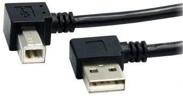 Startech 90 Degree USB B to 90 Degree USB A Male to Male Lead, 0.9m