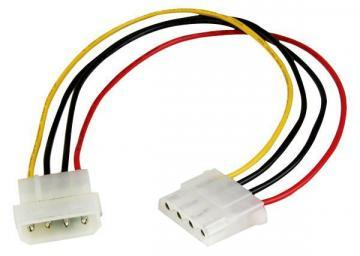 Startech 0.3m Molex LP4 Power Extension Cable