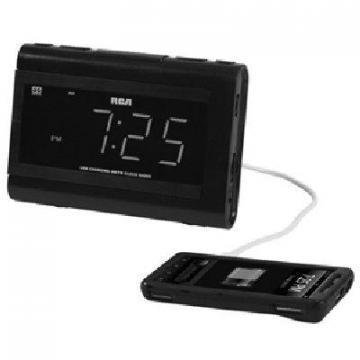 RCA Clock Radio, Dual Wake, Black