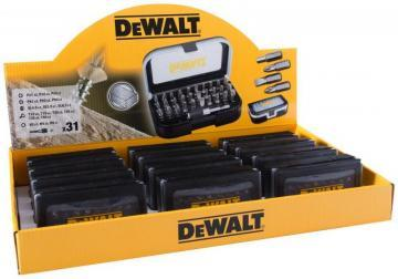 Dewalt Screwdriver Bit Set & Holder - 31 Piece - Display Box of 12