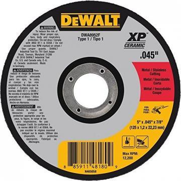 "Dewalt 5"" Type 1 Ceramic Cut-Off Wheel, 7/8"" Arbor, 0.040""-Thick"