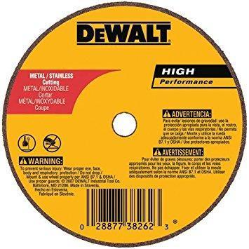 "Dewalt 4"" Type 1 Aluminum Oxide Cut-Off Wheel, 3/8"" Arbor, 1/8""-Thick"