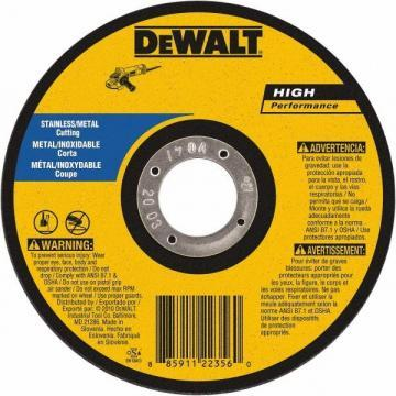 "Dewalt 4"" Type 1 Aluminum Oxide Cut-Off Wheel, 3/8"" Arbor, 0.035""-Thick"