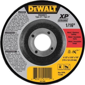 "Dewalt 4.5"" Type 27 Ceramic Cut-Off Wheel, 7/8"" Arbor, 1/16""-Thick"