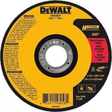 "Dewalt 4.5"" Type 1 Ceramic Cut-Off Wheel, 7/8"" Arbor, 0.040""-Thick"