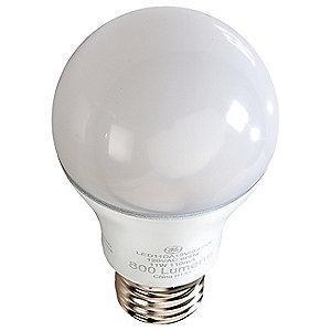 GE 7.0W LED Lamp, A19, Medium Screw (E26), 500 lm, 5000K