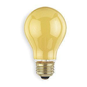 GE 60W Incandescent Lamp, A19, Medium Screw (E26), 550 lm