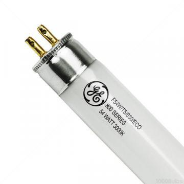"GE 45-13/64"" 54W Linear Fluorescent Lamp, T5, Miniature Bi-Pin (G5), 5000 lm"