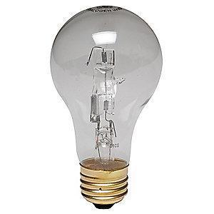 GE 43W Halogen Lamp, A19, Medium Screw (E26), 750 lm, 2850K