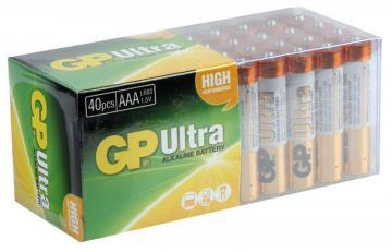 GP Ultra Alkaline AAA Batteries 40 Pack