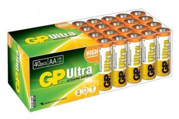 GP Ultra Alkaline AA Batteries 40 Pack