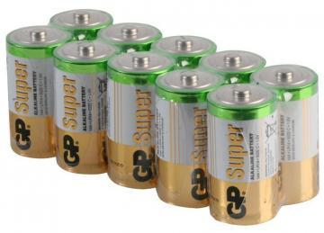 GP Super Alkaline C Batteries - 10 Pack (Bulk)