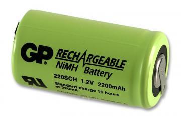 GP Industrial NiMH Rechargeable Sub C Battery 2.2Ah Tagged