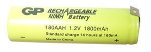 GP Industrial NiMH Rechargeable AA Battery 1.8Ah Tagged
