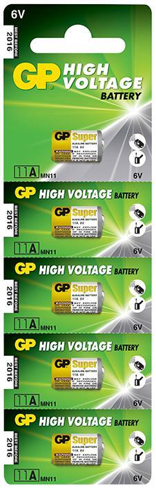 GP High-Voltage Super Alkaline 6V Batteries 5 Pack