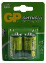 GP GreenCell X-Heavy Duty C Batteries 2 Pack