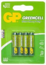 GP GreenCell X-Heavy Duty AAA Batteries 4 Pack