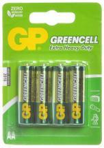 GP GreenCell X-Heavy Duty AA Batteries 4 Pack