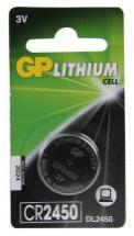 GP CR2450 Lithium Button Cell 3V Battery