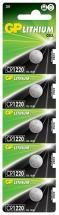 GP CR1220 Lithium Button Cell 3V Batteries 5 Pack