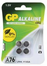 GP Alkaline Button Cell 1.5V Batteries A76 LR44 4 Pack
