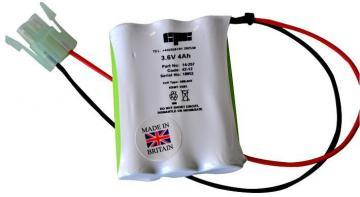 GP 3 Cell In-line High Temp Ni-MH Emergency Lighting Battery Pack