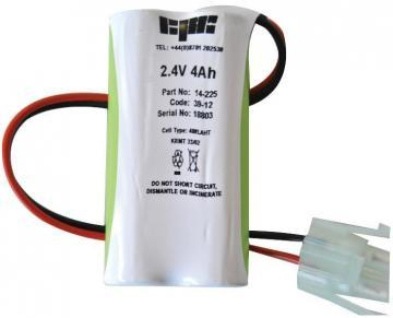 GP 2 Cell In-line High Temp Ni-MH Emergency Lighting Battery Pack