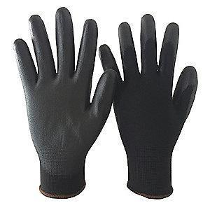Condor 13 Gauge Smooth Polyurethane Coated Gloves, XL, Black