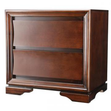 Furniture of America Zoria Dark Walnut 2-Drawer Nightstand