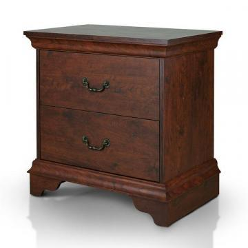 Furniture of America Venicia Vintage Walnut 2-Drawer Nightstand