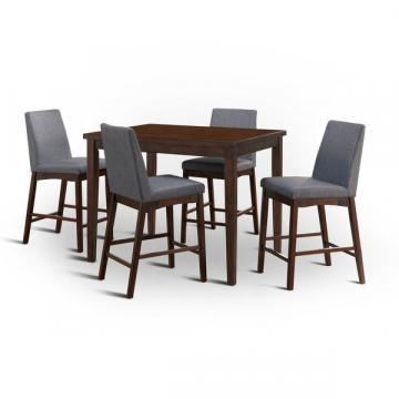 Furniture of America Tenor Mid-century Modern 5-piece Brown Cherry Dining Set