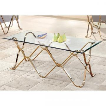 Furniture of America Tellarie Contemporary Champagne Coffee Table