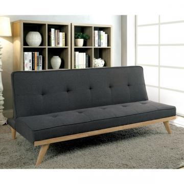 Furniture of America Talena Mid-century Tufted Linen-like Fabric Futon Sofa