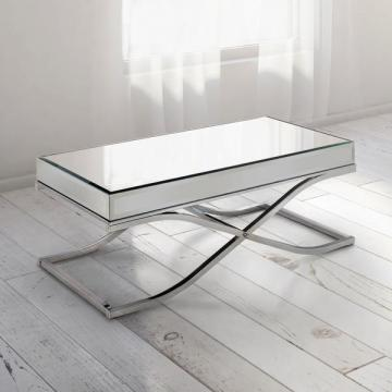 Furniture of America Orelia Luxury Chrome Metal Coffee Table