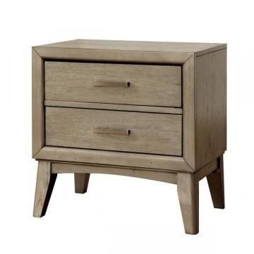 Furniture of America Meric Mid-century Modern Grey 2-drawer Nightstand