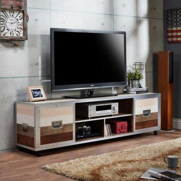 "Furniture of America Kenzy Contemporary Industrial 70"" Entertainment TV Stand"