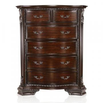Furniture of America Kassania Luxury Brown Cherry Chest