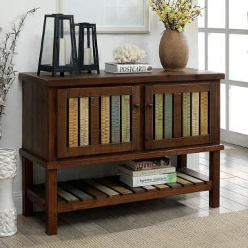Furniture of America Kaleida Brown Cherry Hallway Cabinet/Table