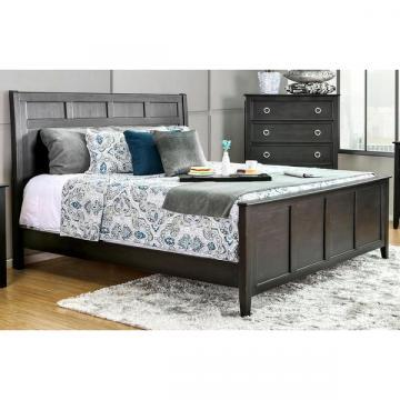 Furniture of America Gailes Transitional Wire-brushed Black Queen-size Bed
