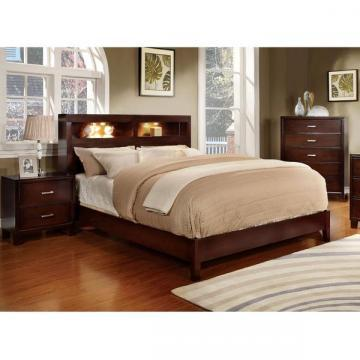 Furniture of America Clement 2-piece Platform Bed with Nightstand Set